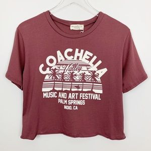 Coachella Cropped Graphic Tee